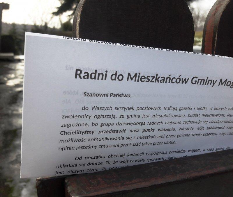 Radni do Mieszkanców gminy Mogilany