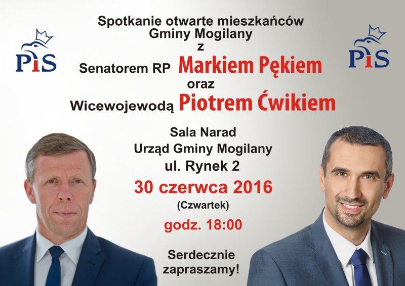 Senator Marek Pęk i Wicewojewoda Piotr Ćwik w Mogilanach
