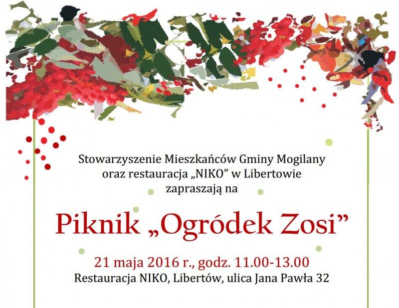 """Piknik """"Ogródek Zosi"""" już w sobotę!"""