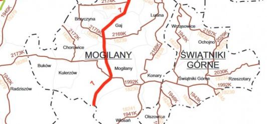 Drogi powiatowe w gminie Mogilany
