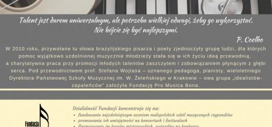 Daj szansę uzdolnionej muzycznie młodzieży!
