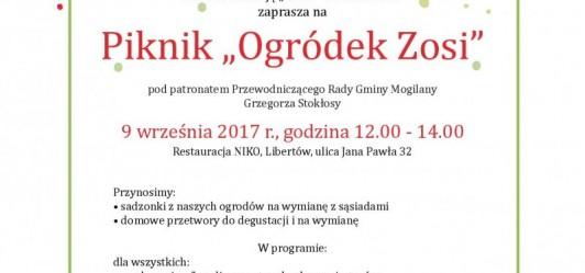 """""""Ogródek Zosi"""" - piknik w Libertowie"""